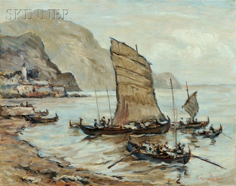 cargo boats, funghal, madeira by reynolds beal