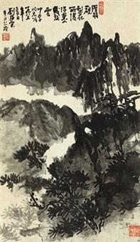 泼墨山水 立轴 纸本 by liu haisu