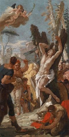 das martyrium des heiligen sebastian by giovanni battista tiepolo