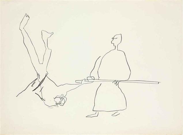 untitled (karate ii) by jean-michel basquiat