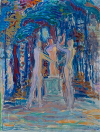 taking an oath (study for mural) by magnus enckell