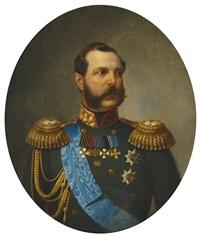 portrait of alexander ii of russia by heinrich von angeli