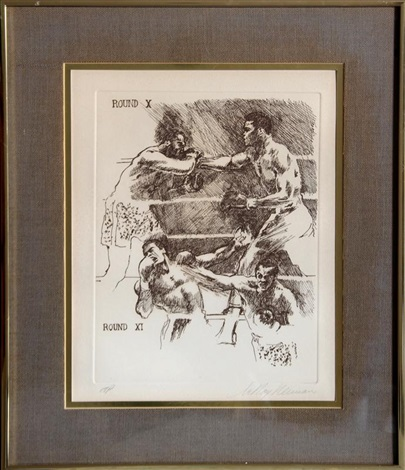boxing etching x by leroy neiman