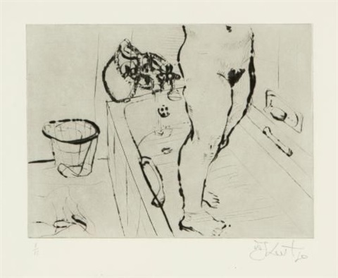 getting out of the bath by william kentridge
