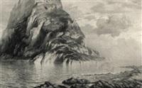 phantastische insel mit ruinenhügel by viktor gutmann