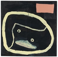 black painting number 10 by donald baechler