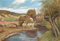tauberbrücke bei dettwang by curt agthe