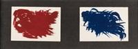 azul y rojo by hans hartung
