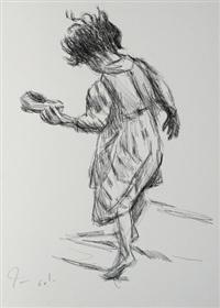 ohne titel (portfolio of 33 + 12 framed works; total 45 works, various sizes) by helmut baumann