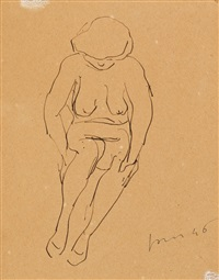 untitled (nudo) by lucio fontana
