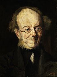 portrait des vaters des künstlers by theodor alt