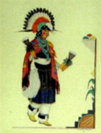 san ildefonso dancer by gilbert atencio