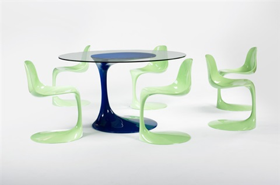 Dining Table And Six Chairs Von Rudi Bonzanini Auf Artnet