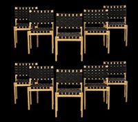 dining chairs (set of 10) by alvar aalto
