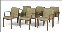 armchairs (1305u) (set of 6) by bill stephens