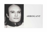 prima facie: arrogant by john baldessari