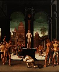 das martyrium des heiligen sebastian by georg pencz