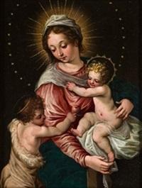 virgen con el niño y san juanito by hans rottenhammer the elder