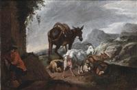 paesaggio con armenti by francesco londonio