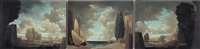 paesaggio (triptych) by tomaso tommasi