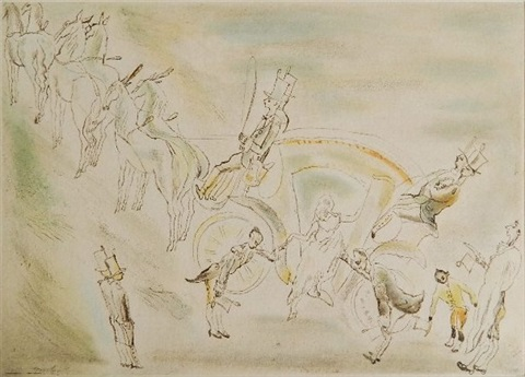 arriving at the ball by jules pascin