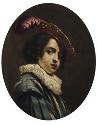 bildnis eines jungen mannes mit geschlitzter jacke und barrett by cesare dandini