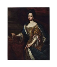 portrait of anne marie d'orléans, three-quarter-length by french school (17)