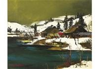 snowscape by yotsuo kasai