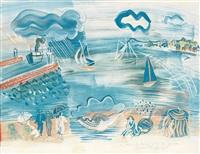 bord de la mer by raoul dufy