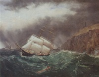 a merchant ship in a tight fix by william gay yorke