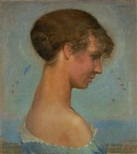 portrait einer jungen frau by jean philippe edouard robert