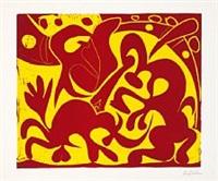 la pique (rouge et jaune) by pablo picasso