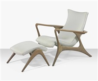armchair and ottoman by vladimir kagan