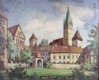 ansicht von mediasch mit stadtpfarrkirche und stephan-ludwig-roth-lyzeum by hermann kenzel