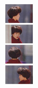 tokuyo yamada, hair designer, shinbuyo shyppan co., ltd., minami-aoyama, tokyo, may 14, 1993 (4 works) by christopher williams