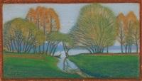 au bord du lac by jean philippe edouard robert