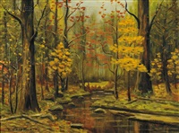 autumn woods by william chadwick