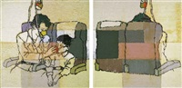 oxygen mask (diptych) by li songsong