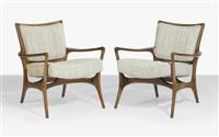 armchairs (pair) by vladimir kagan