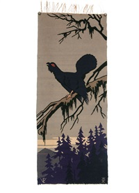 lubljana wall hanging - wood grouse by ernst (vollbach) vollbehr