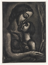 il serait si doux d'aimer (from miserere) by georges rouault