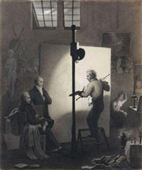 girodet peignant pygmalion et galatée en présence du comte de sommariva by françois louis dejuinne