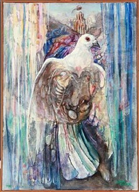 composition with a dove by jeppe eisner