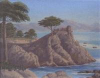 the lone cypress by charles westly nicholson