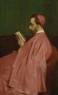 lesender kardinal by ferdinand heilbuth
