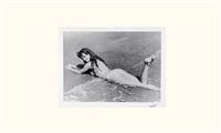 brigitte bardot sur la plage de pampelune by serge jacques
