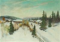 vinterdag i landsbyen i norge by sigvald simensen