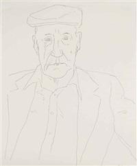william burroughs by david hockney