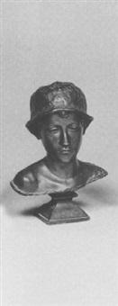 busto di giovane con cappello by rocco milanesi