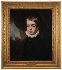 portrait of a boy in a landscape by thomas lawrence